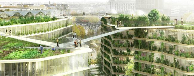 巴黎繁茂的绿洲和屋顶农场设计方案_湖北九墨世纪景观